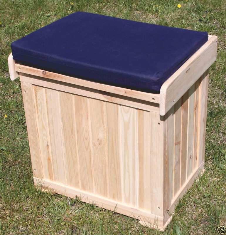 Kissenbox Patrick - Auflagenbox - Truhe - Box Holz natur B 56 x T 43 x H 56 cm