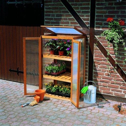 Anzuchtschrank für Pflanzen Frühbeetschrank Frühbeet  L70xB50xH120cm Kiefernholz