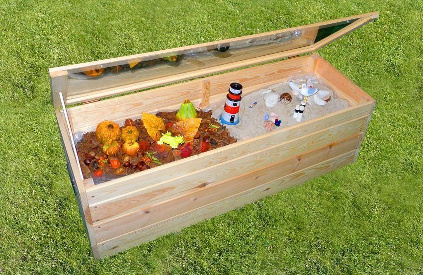 Dekogartenbox Marie Aufbewahrungsbox Frühbeet L118 x B40 x H42 cm