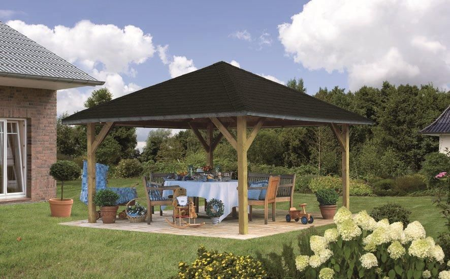 karibu pavillon holm pavillion pavillon gartenlaube holz. Black Bedroom Furniture Sets. Home Design Ideas