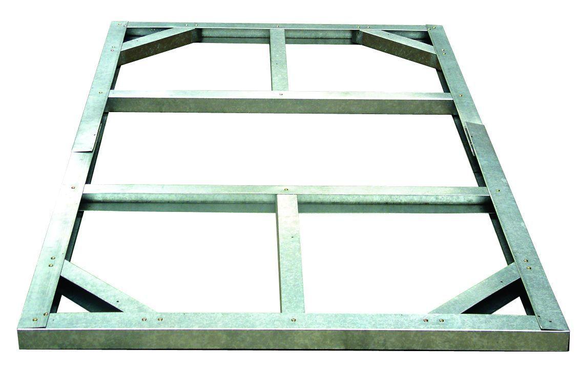 Balkon Unterkonstruktion Aus Metall : Metall-Unterkonstruktion für Tepro Metallgerätehäuser