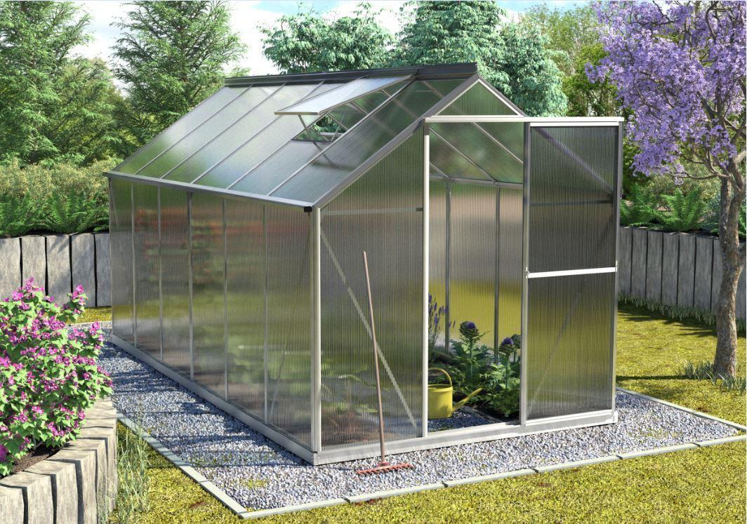 pergart gew chshaus triton 5gr hkp 6mm alu sehr windstabil balkon garten shop. Black Bedroom Furniture Sets. Home Design Ideas