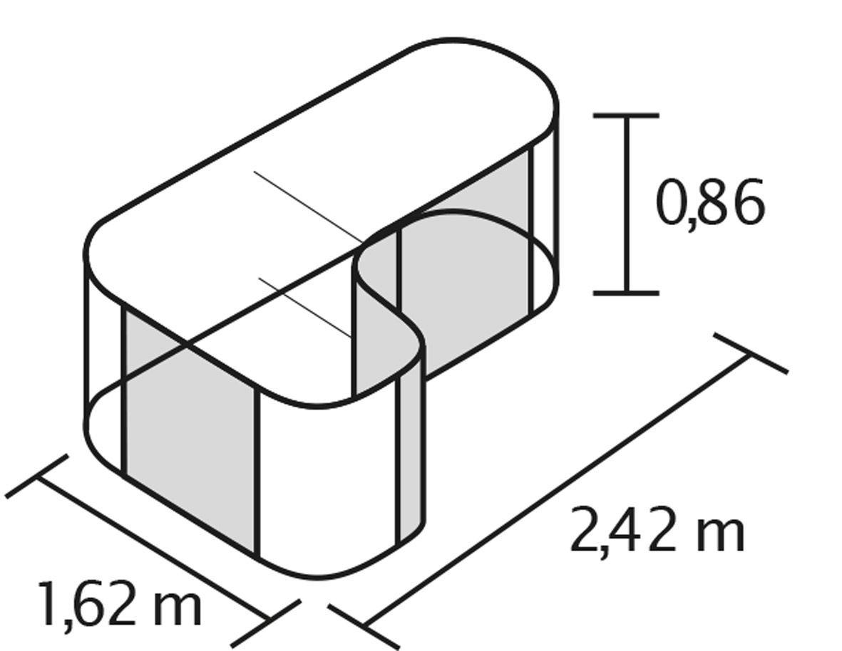 Set Vitavia Hochbeet Zinkalum Basic Erweiterung Curve