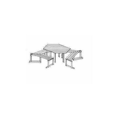 """Möbel Tisch und Sitzbänke für Pavillon """"Marburg"""", aus Holz, ohne Auflagen"""