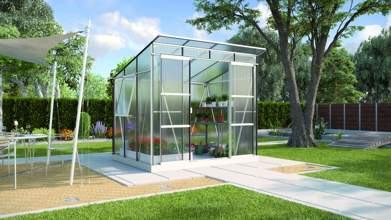 vitavia gew chshaus freya 5900 5 9m oder freya 7600 7 6m hkp 6mm alu balkon garten shop. Black Bedroom Furniture Sets. Home Design Ideas