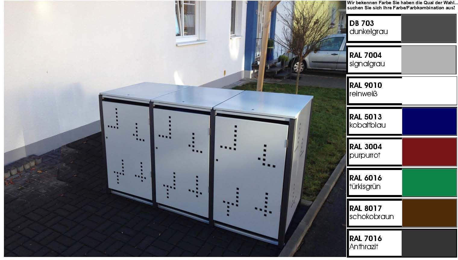 metall m lltonnenbox f r 3 tonnen m llcontainer m llbox. Black Bedroom Furniture Sets. Home Design Ideas