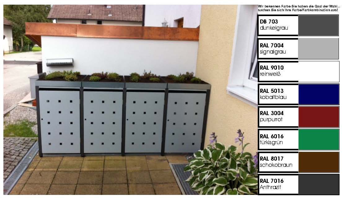 metall m lltonnenbox f r 4 tonnen m llcontainer m llbox made in germany balkon garten shop. Black Bedroom Furniture Sets. Home Design Ideas