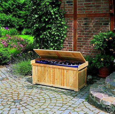 gartenbank mit polstertruhe bank sitzbank truhe box. Black Bedroom Furniture Sets. Home Design Ideas