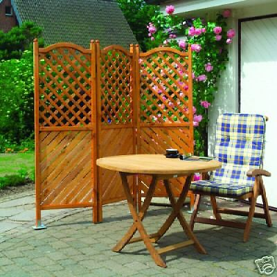 paravent 3tlg holz impr gniert br gge sichtschutz windschutz b182 x h180 cm balkon garten shop. Black Bedroom Furniture Sets. Home Design Ideas