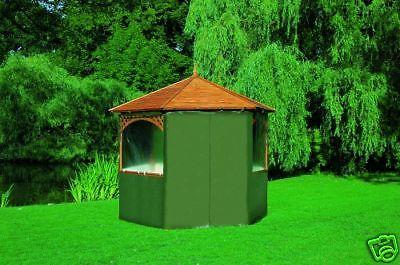 Wetterschutzumhang für Pavillons Vienna und Palma aus grünem PE-Gewebe