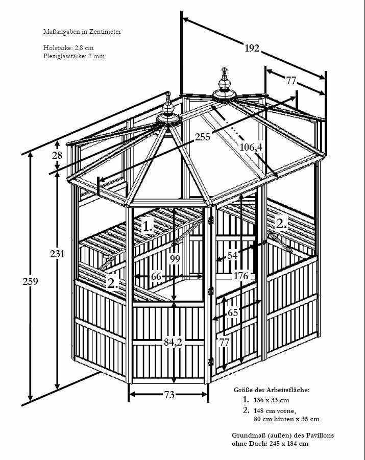 8 eck holz gew chshaus pavillon l uv stabil plexiglas balkon garten shop. Black Bedroom Furniture Sets. Home Design Ideas