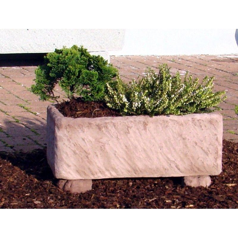pflanztrog blumenkasten werksandstein l52xb26xh19cm stein 35kg r tlich o beige balkon garten shop. Black Bedroom Furniture Sets. Home Design Ideas