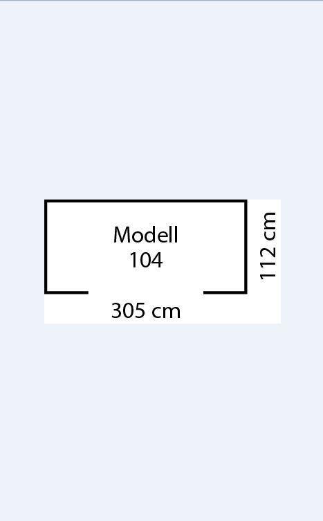 Arrow Gerätehaus PT 64-104 Flachdach, 3 Großen, schiefer/creme