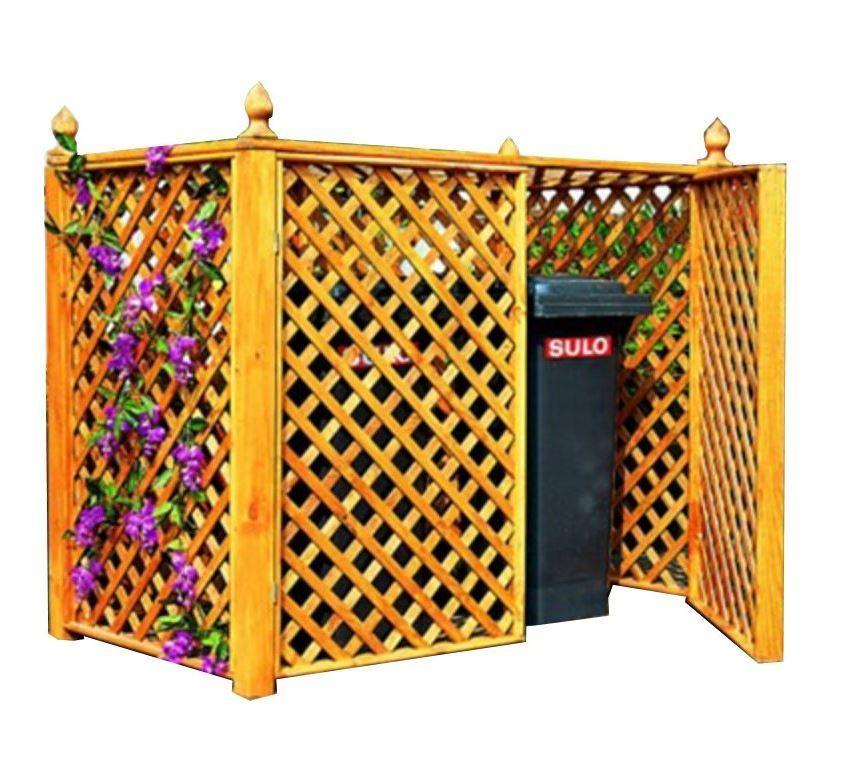 Mülltonnenbox für 2 Tonnen, Holz