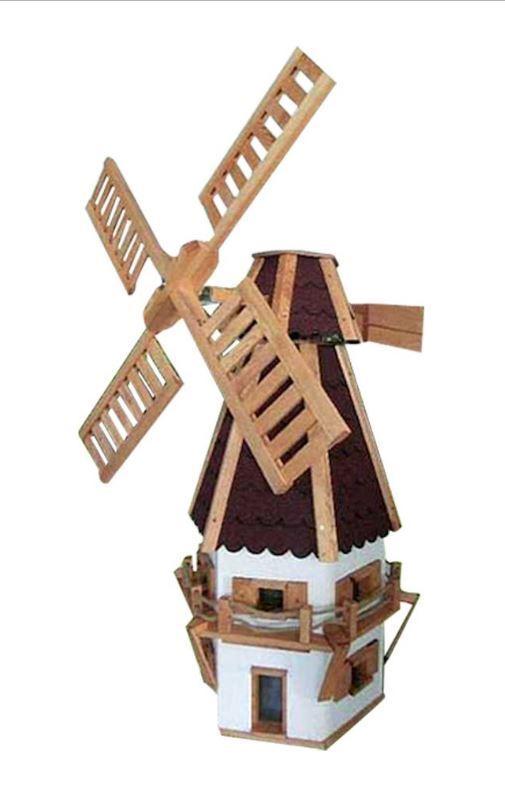 """Windmühle """"Jever"""" groß - Gartendekoration, Gartendeko, Holz"""