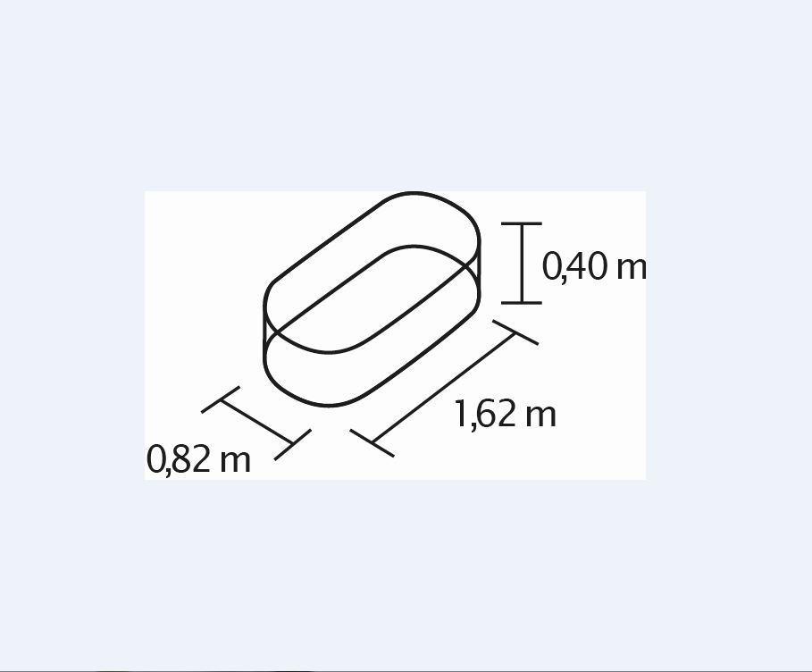 Vitavia Hochbeet Basic 401, zinkalum, alu - blank in Angebot mit Hochbeetabdeckung