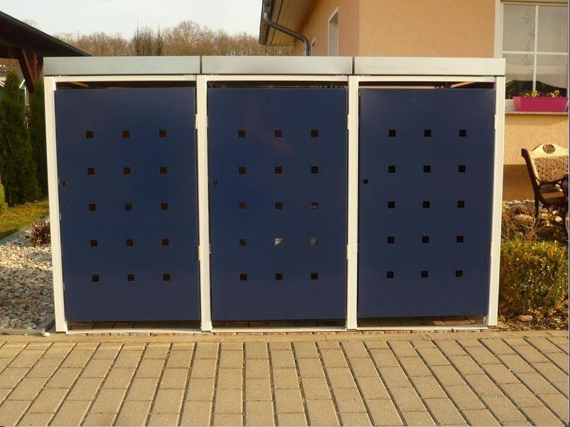 metall m lltonnenbox f r 3 tonnen m llcontainer m llbox made in germany balkon garten shop. Black Bedroom Furniture Sets. Home Design Ideas