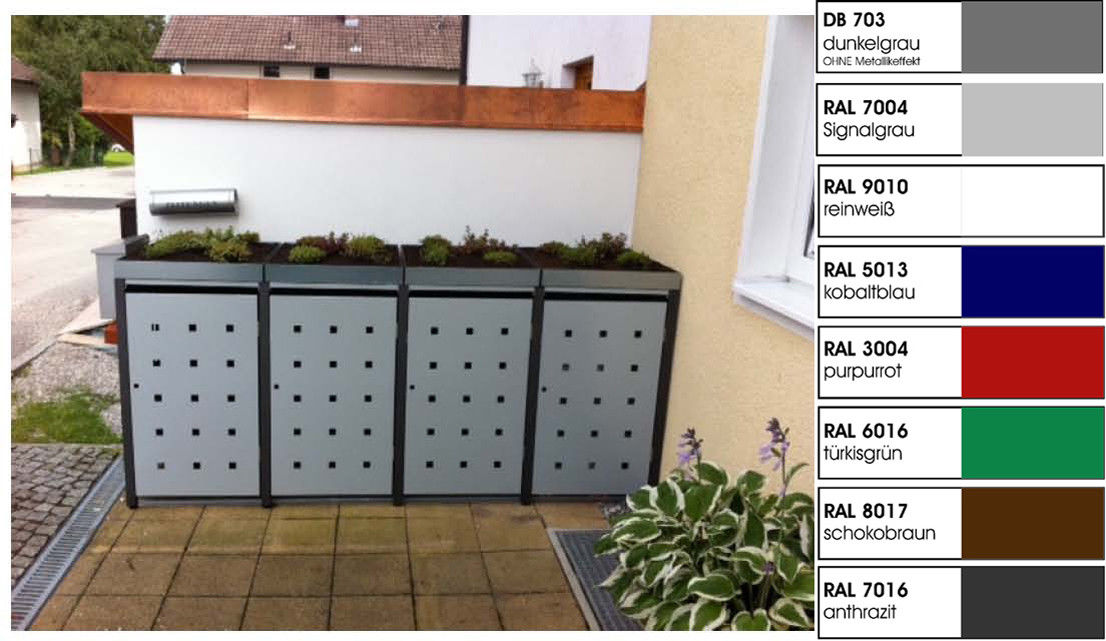 metall m lltonnenbox f r 4 tonnen m llcontainer m llbox made in germany balkon garten shop. Black Bedroom Furniture Sets. Home Design Ideas