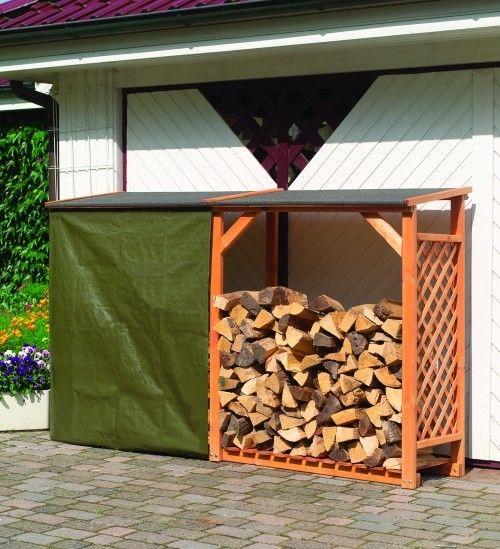 Doppl. Kaminholzschrank Speyer Kaminholzregal B 238  X T 68 X H 148 cm aus Holz
