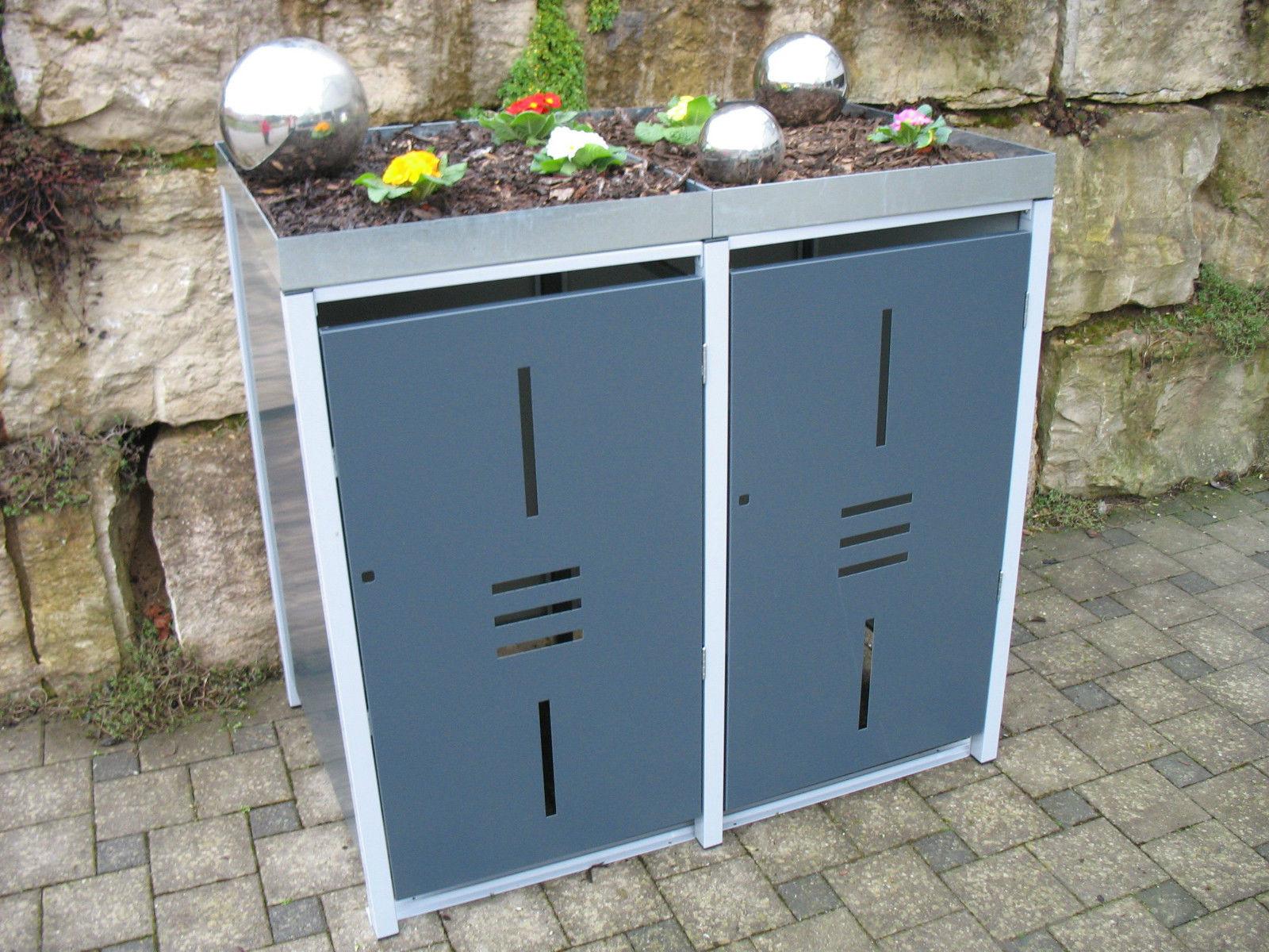 metall m lltonnenbox f r 2 tonnen m llcontainer m llbox made in germany balkon garten shop. Black Bedroom Furniture Sets. Home Design Ideas