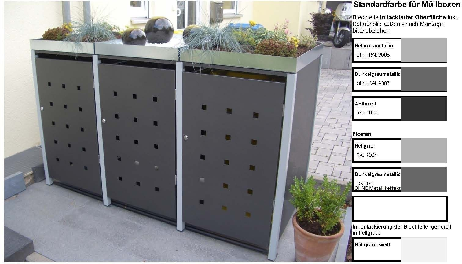 metall m lltonnenbox f r 3 tonnen m llcontainer m llbox made in germany balkon garten shop. Black Bedroom Furniture Sets. Home Design Ideas
