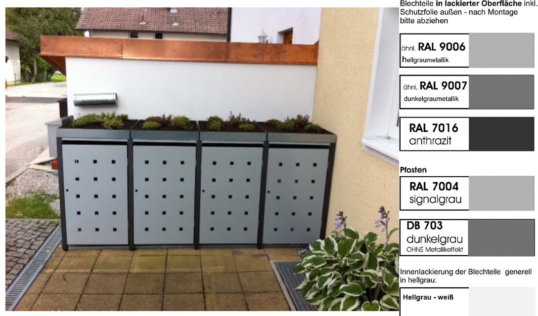 metall m lltonnenbox f r 4 tonnen m llcontainer m llbox. Black Bedroom Furniture Sets. Home Design Ideas