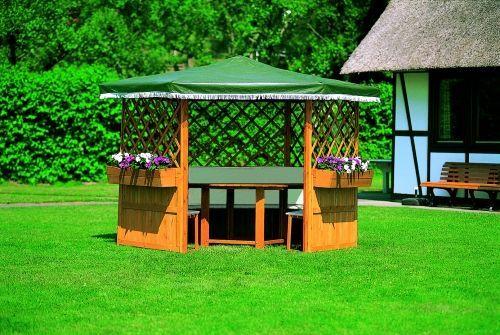 Holzpavillon Marburg L 250 x B 250 cm Pavillon Überdachung Sonnenschutz