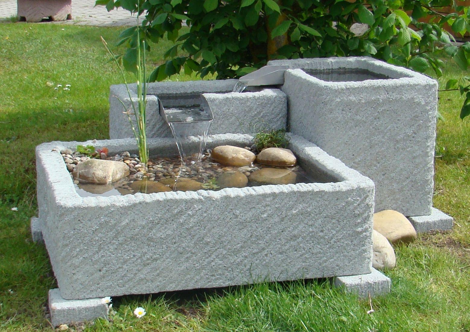 Springbrunnen brunnen wasserspiel granitwerkstein stein 262kg balkon garten shop - Brunnen garten stein ...