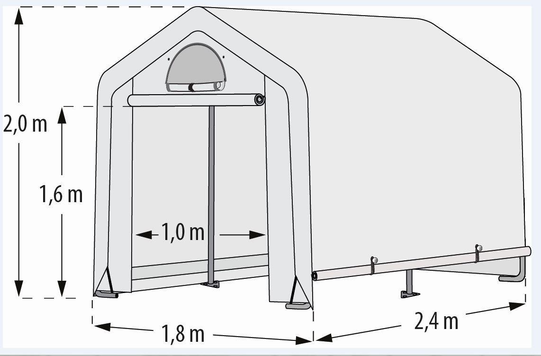 "Pergart Foliengewächshaus ""Arche S"" 4,32qm, B180 x T240 x H 200 cm"