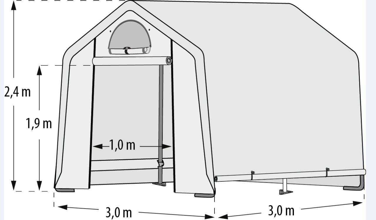 "Pergart Foliengewächshaus ""Arche M"" 9,00qm, B300 x T300 x H240 cm"