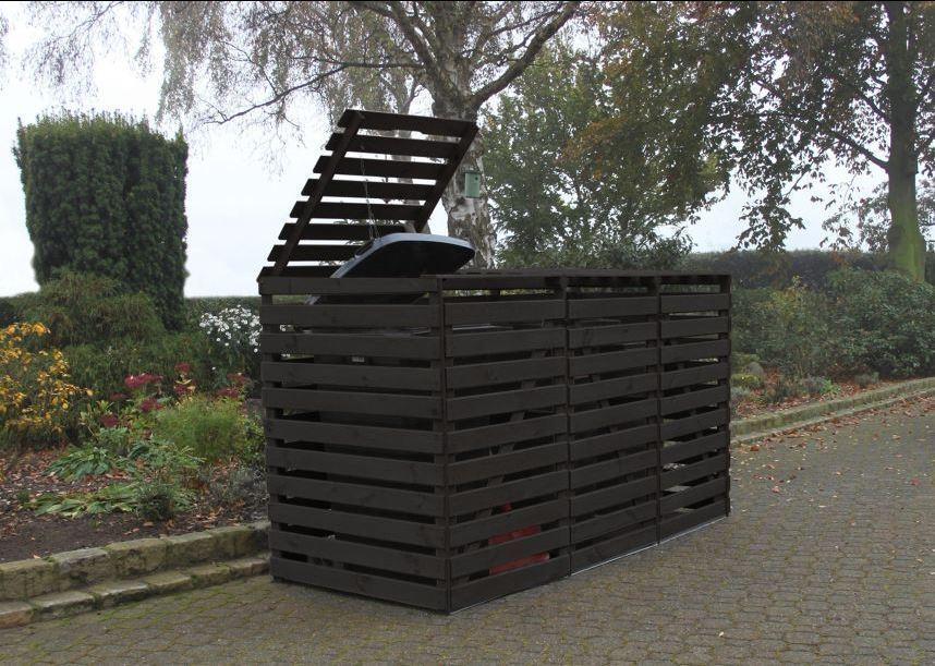 """Mülltonnenbox """"Vario V"""" für 3 Tonnen, anthrazit, Maße (BxTxH) : 219x92x122 cm"""