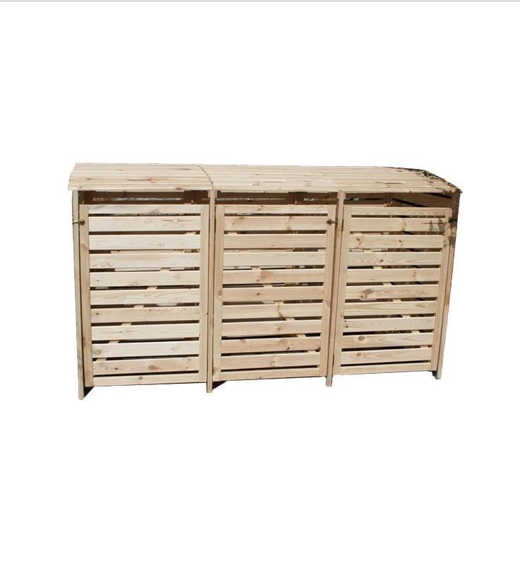 "Mülltonnenbox ""Vario III"" für 3 Tonnen, Holz natur"