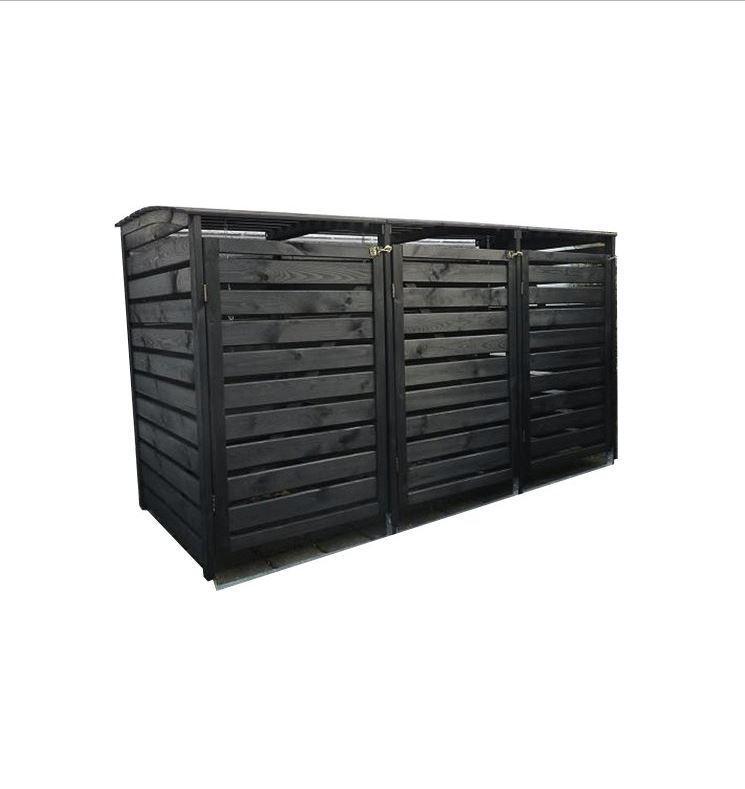 "Mülltonnenbox ""Vario III"" für 3 Tonnen Holz anthrazit"