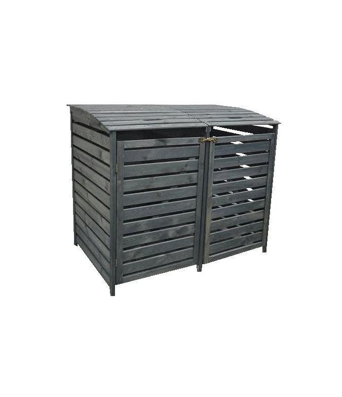 "Mülltonnenbox ""Vario III"" für 2 Tonnen, Holz anthrazit"