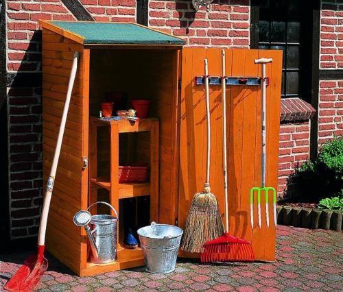 Gerätehaus Holz Klein : ger teschrank klein gartenhaus ger tehaus b78xt78xh164cm holz honig braun balkon garten shop ~ Watch28wear.com Haus und Dekorationen