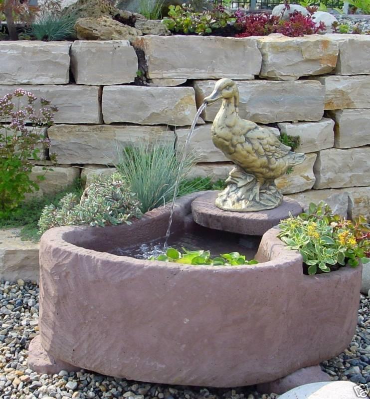 Springbrunnen Brunnen Wasserspiel  Werksandstein 107kg