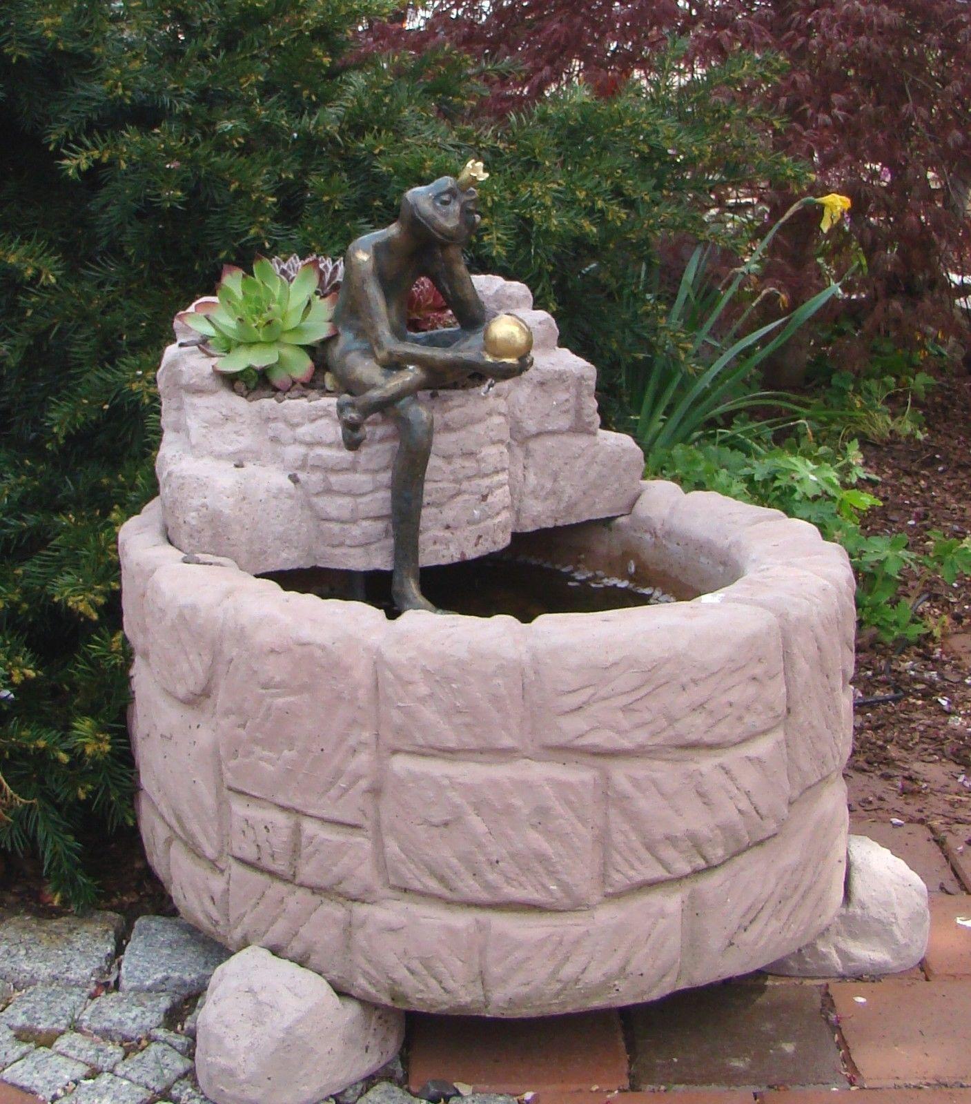 Springbrunnen Brunnen Wasserspiel Werksandstein Stein 107kg