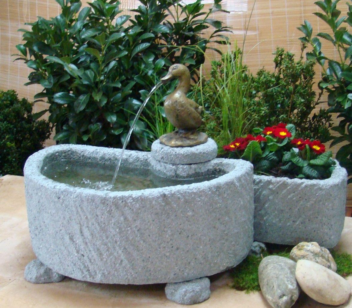 Springbrunnen Brunnen Wasserspiel Granitwerkstein Stein 20kg