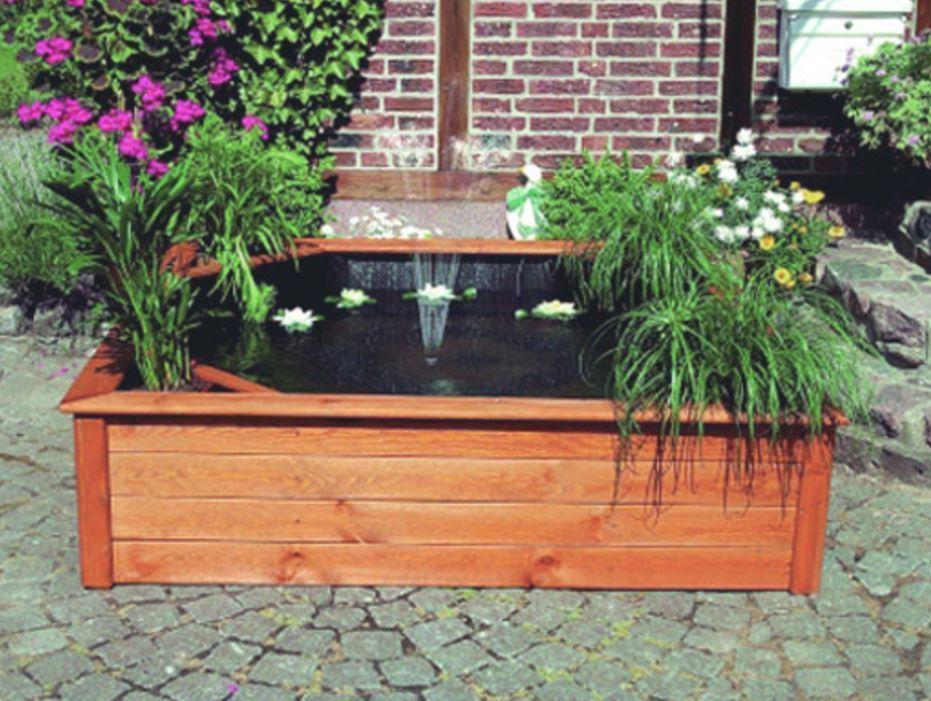 Terrassenteich 150x150 cm mit 4 Pflanzzonen - Hochteich