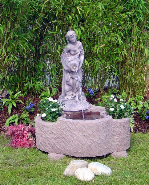 Springbrunnen Brunnen Wasserspiel  Werksandstein 190kg 90 X 80 X 110 cm