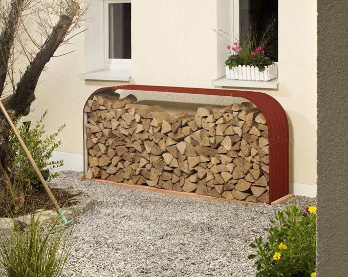 Vitavia Holzunterstand Kaminholzregal Kaminholzschrank B220 x T40 x H100cm