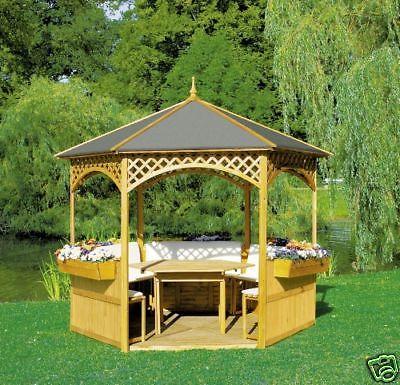 Holzpavillon Palma 3 L278 X B278 cm Pavillon Überdachung Sonnenschutz