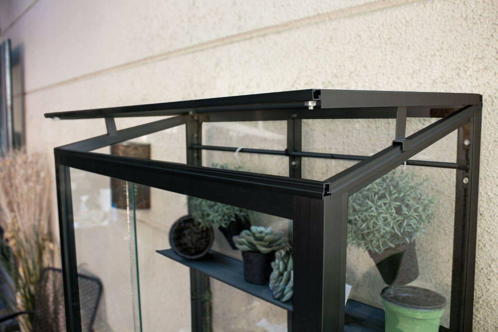Vitavia Polis Balkongewächshaus 350 ESG schwarz - Balkon Gewächshaus