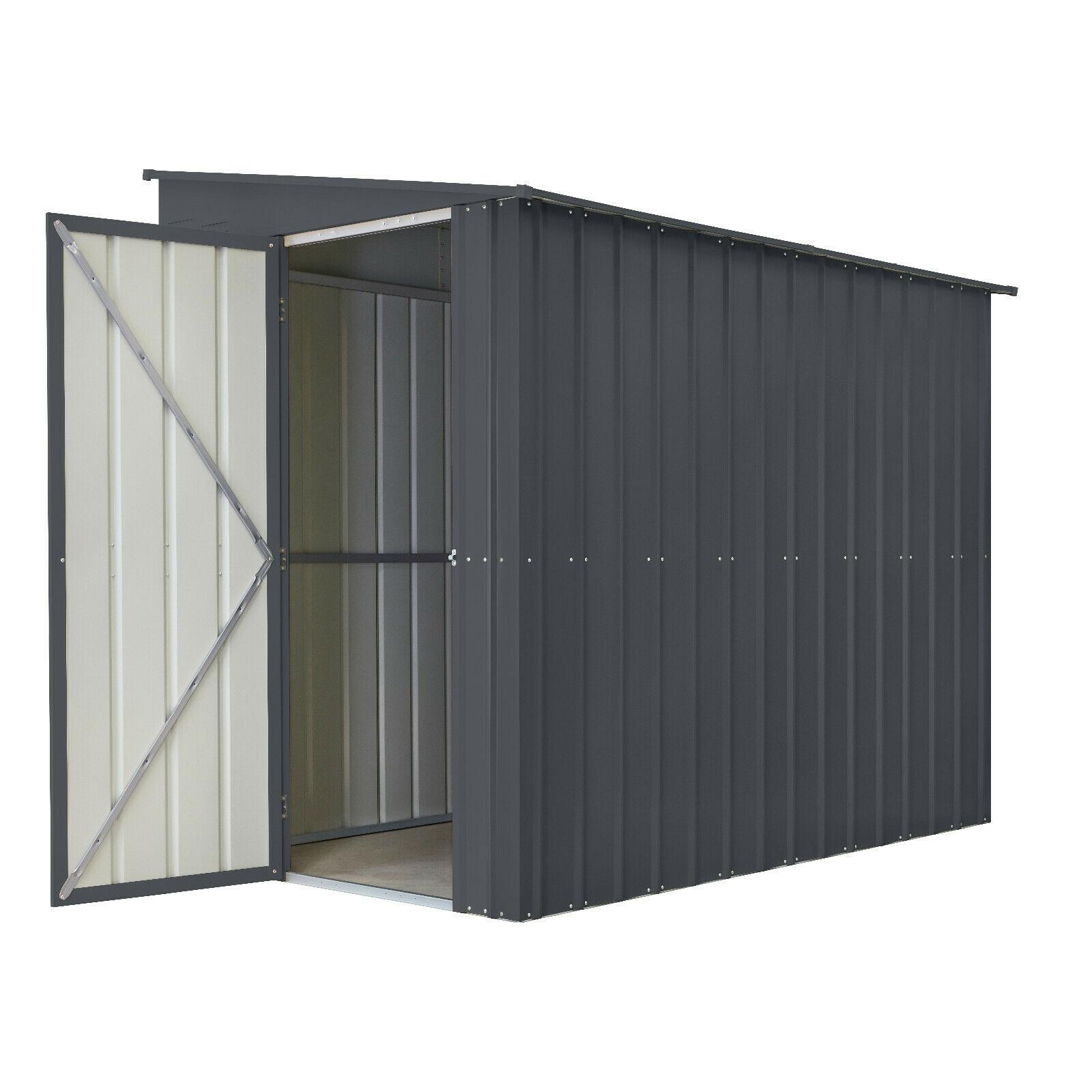 Globel Pultdach Wand-Gerätehaus LeanTo, 2 Großen, 2,46qm-3,37qm, anthrazit