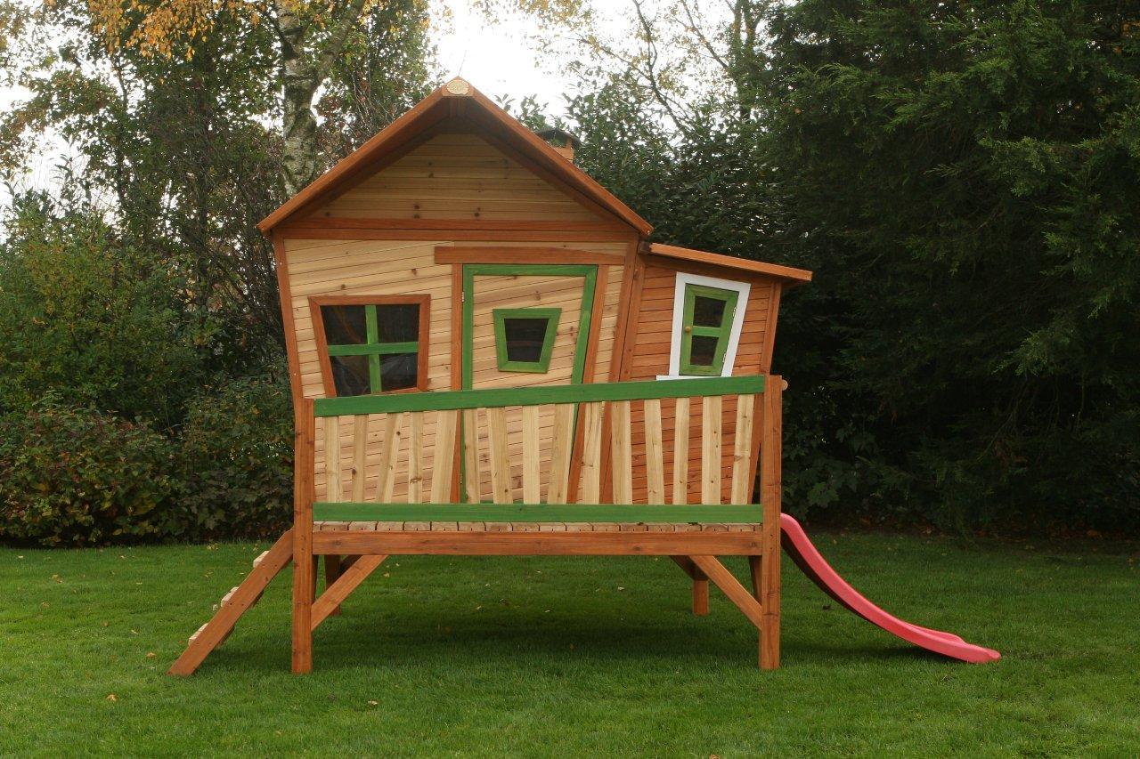 Spielhaus Holz Oder Plastik ~ Axi Holz Spielhaus Emma Kinderspielhaus Garten 340cm x 200cm x 223cm