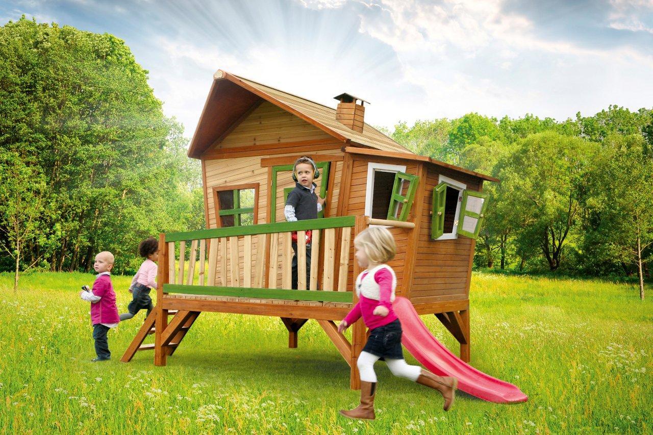 axi holz spielhaus emma kinderspielhaus garten 340cm x 200cm x 223cm ebay. Black Bedroom Furniture Sets. Home Design Ideas