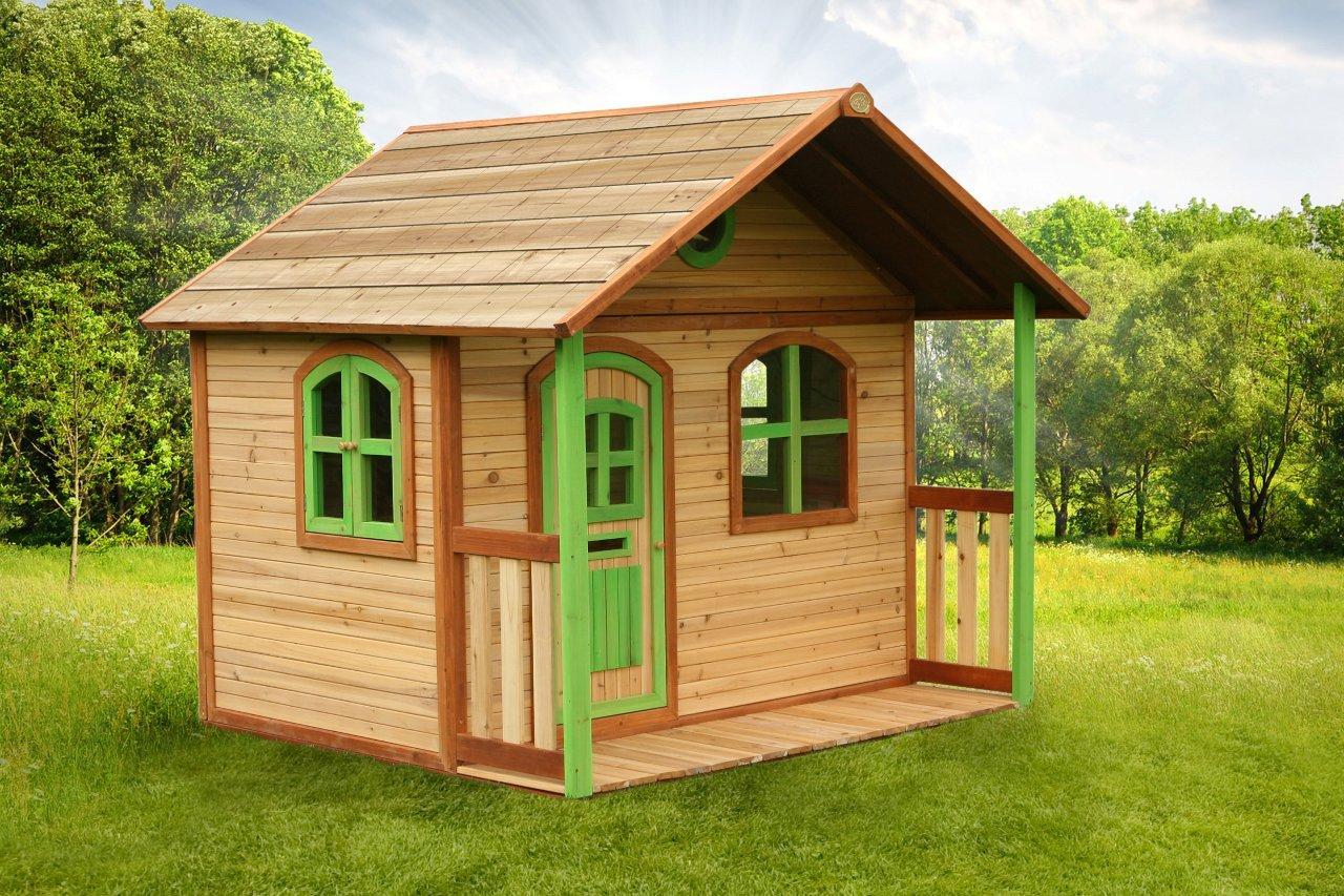 Kinderspielhaus Holz Robinie ~ Axi Holz Spielhaus Milan Kinderspielhaus Garten 200cm x 187cm x 175cm