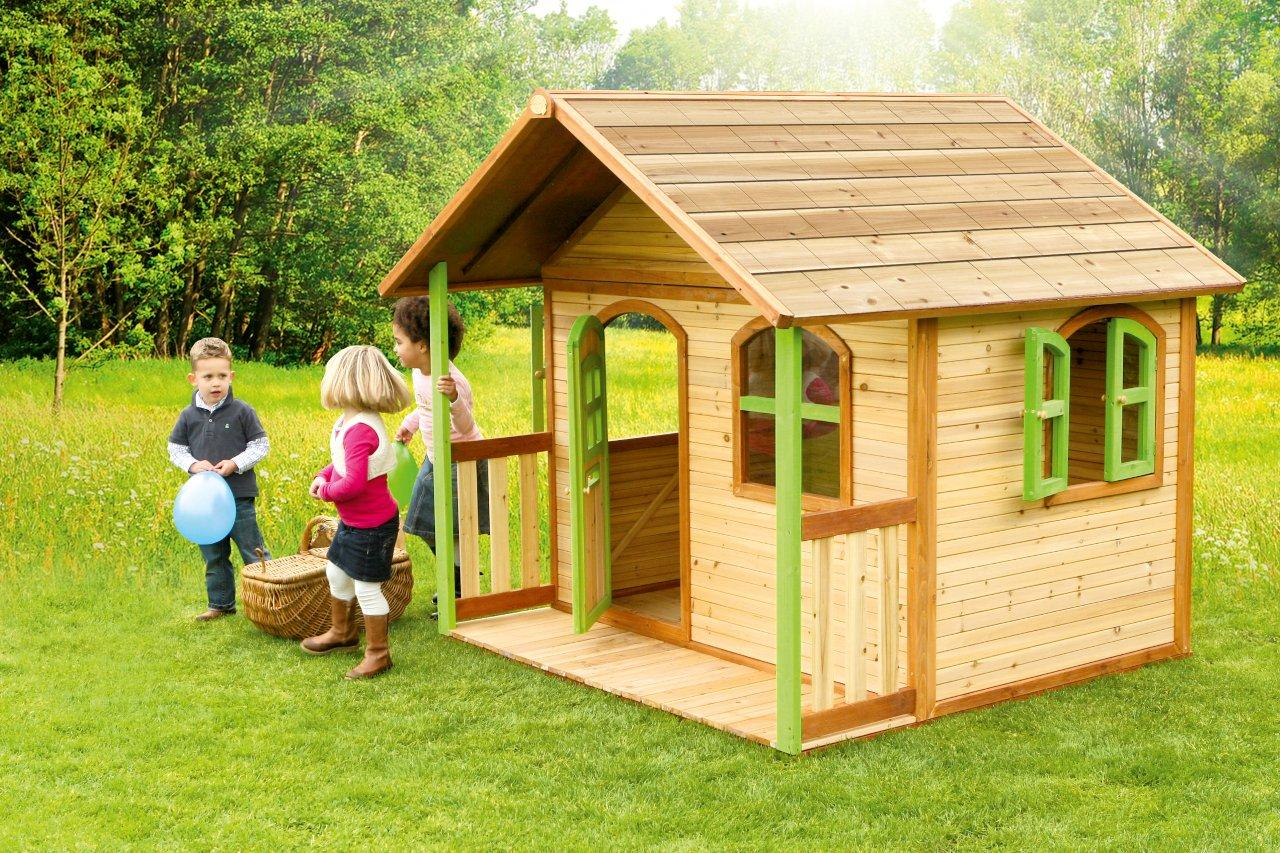 axi holz spielhaus milan kinderspielhaus garten 200cm x 187cm x 175cm ebay. Black Bedroom Furniture Sets. Home Design Ideas