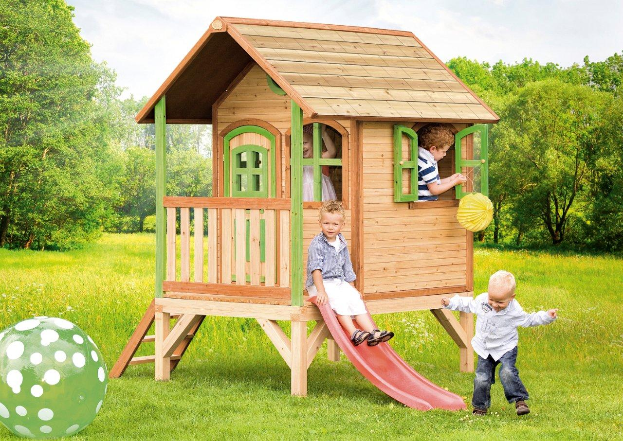 axi holz spielhaus tom kinderspielhaus garten 285cm x 187cm x 230cm ebay. Black Bedroom Furniture Sets. Home Design Ideas