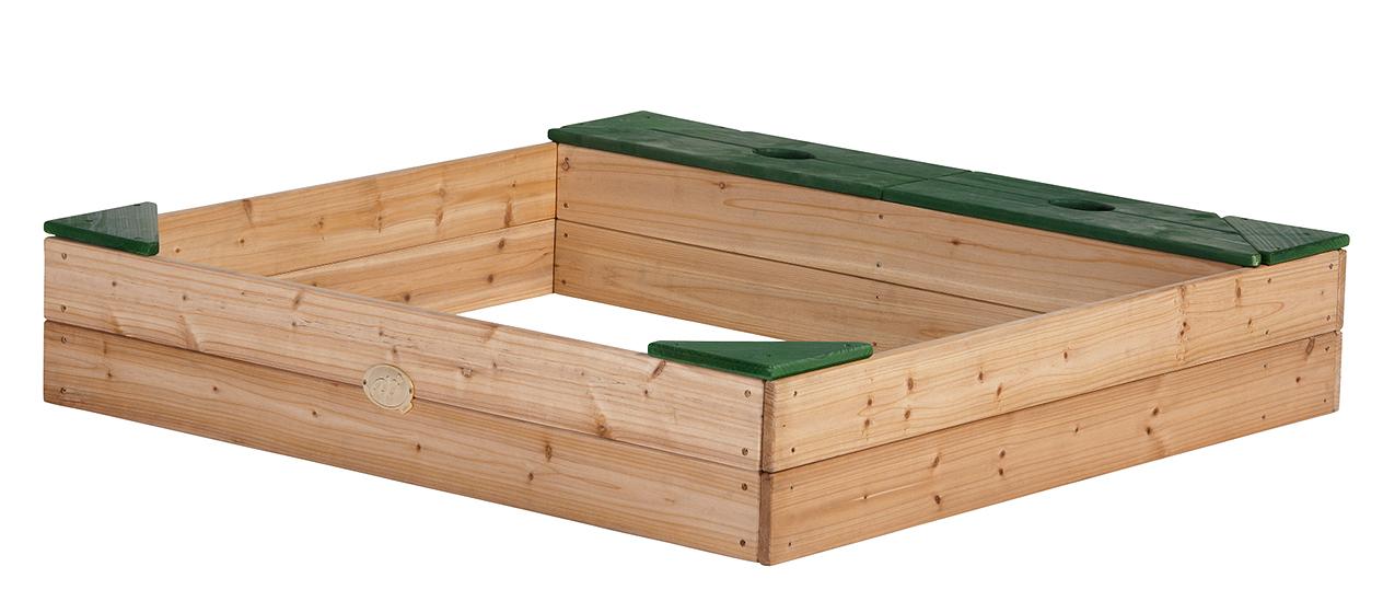 axi sandkasten amy mit aufbewahrungsbox aus zedernholz au enma 115x115x22 cm ebay. Black Bedroom Furniture Sets. Home Design Ideas